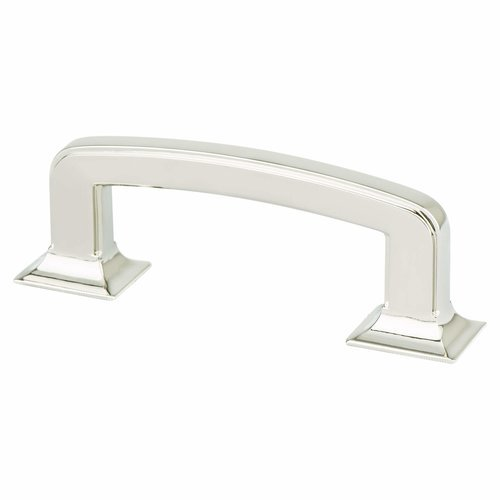 Berenson Designers Group 10 3 Inch Center to Center Polished Nickel Cabinet Pull 4139-1014-P