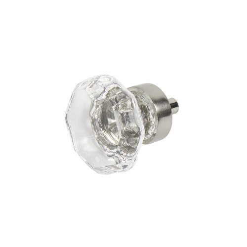 "Century Hardware Glamour Knob 1-3/8"" Dia Transparent W/ Polished Nickel Base 29917-15C"