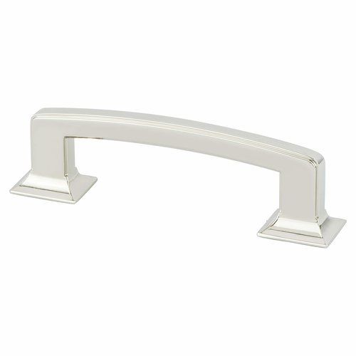 Designers Group 10 3-3/4 Inch Center to Center Polished Nickel Cabinet Pull <small>(#4140-1014-P)</small>