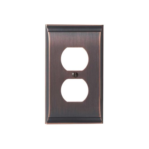 Amerock Candler One Receptacle Wall Plate Oil Rubbed Bronze BP36508ORB