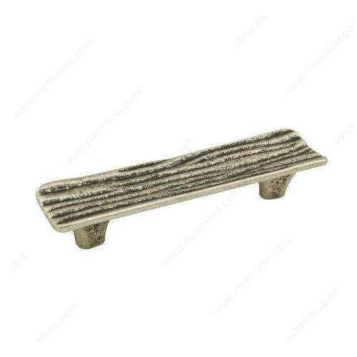 Richelieu Striated 3-3/4 Inch Center to Center Faux Iron Cabinet Pull 159096904
