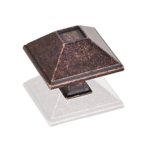 Jeffrey Alexander Tahoe 1-1/2 Inch Diameter Dark Machined Antique Copper Cabinet Knob 602DMAC