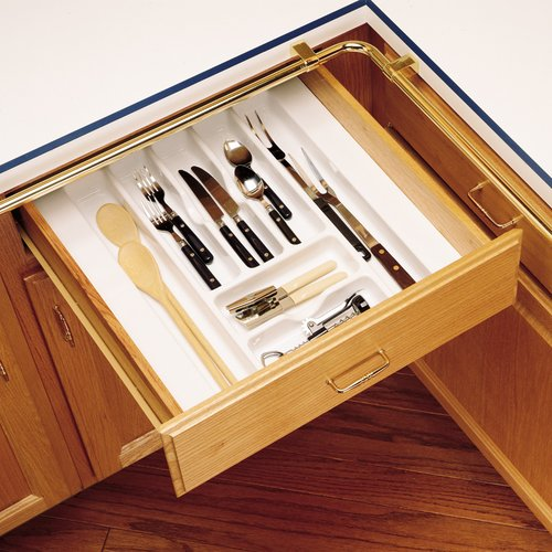 "Rev-A-Shelf Cutlery Tray 17.50"" W X 21,25"" D - Textured White CT-3W-52"