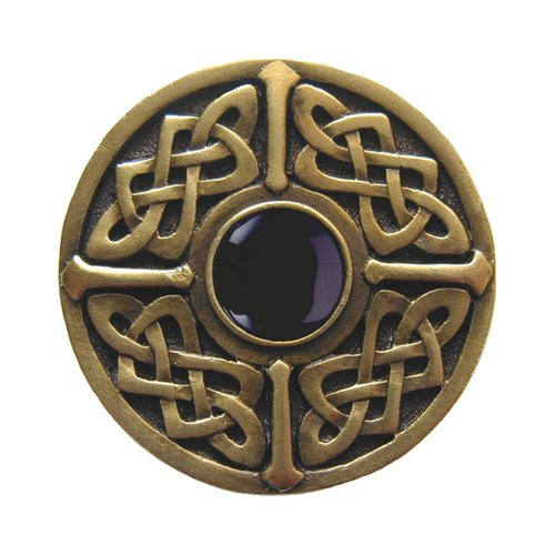 Jewel 1-3/8 Inch Diameter Antique Brass Cabinet Knob <small>(#NHK-158-AB-O)</small>