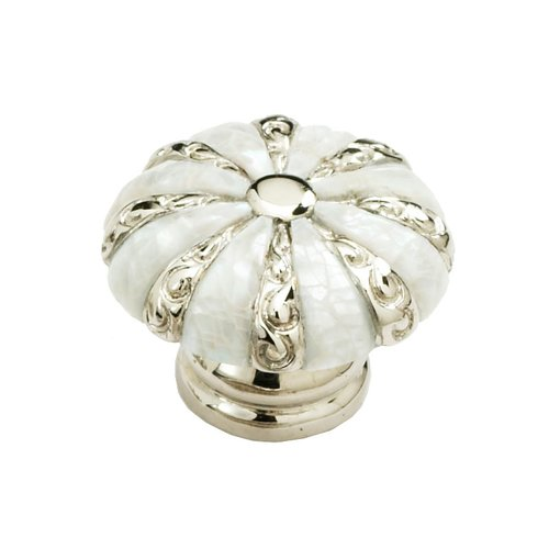 Schaub and Company Mother of Pearl 1-3/8 Inch Diameter Mother Of Pearl/Polished Nickel Cabinet Knob 853-MOP/PN