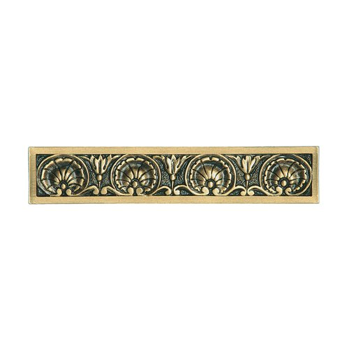 Notting Hill King's Road 4 Inch Center to Center Satin 24K Gold Cabinet Pull NHP-608-SG