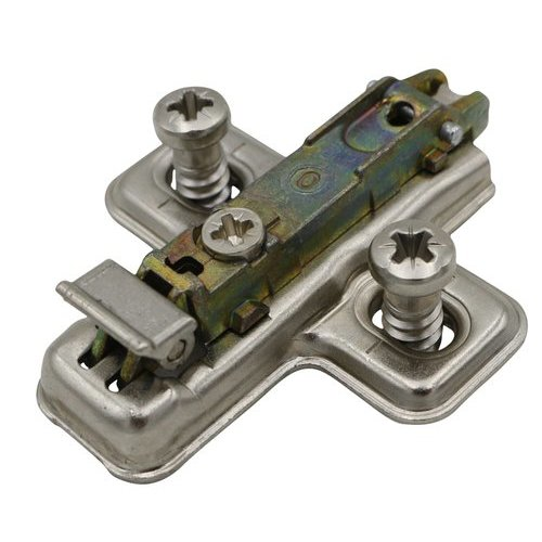 Salice 3MM Mounting Plate with Pre-Mount Euro-Screw BAVGL3/F