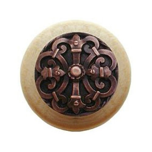 Notting Hill Olde World 1-1/2 Inch Diameter Antique Copper Cabinet Knob NHW-776N-AC