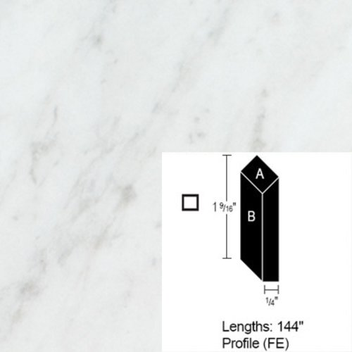 Wilsonart Bevel Edge - White Carrara - 12 Ft CE-FE-144-4924-38