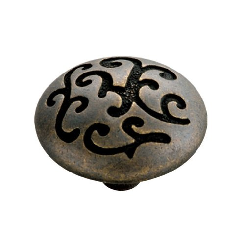 Mayfair 1-1/4 Inch Diameter Windover Antique Cabinet Knob <small>(#P3091-WOA)</small>