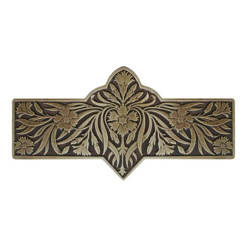 Notting Hill English Garden 3 Inch Center to Center Antique Brass Cabinet Pull NHP-678-AB