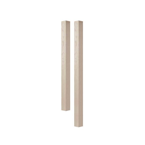 "Brown Wood 3"" Square Island Column Unfinished Hard Maple 01623010HM1"