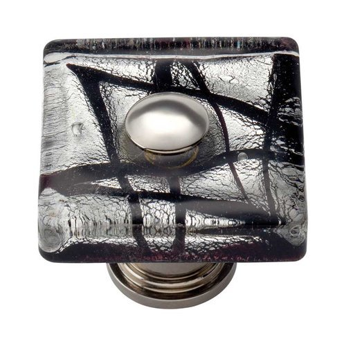 Atlas Homewares Glass 1-1/2 Inch Diameter Polished Chrome Cabinet Knob 3207-CH