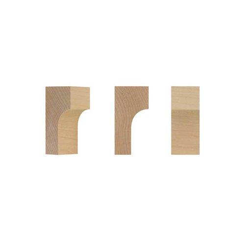 Brown Wood Petite Craftsman Bracket Unfinished Hard Maple 01608001HM1