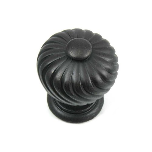 French Twist 1-1/4 Inch Diameter Oil Rubbed Bronze Cabinet Knob <small>(#83913)</small>