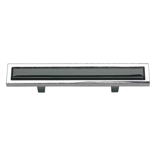 Atlas Homewares Spa 3 Inch Center to Center Polished Chrome Cabinet Pull 231-BLK-CH