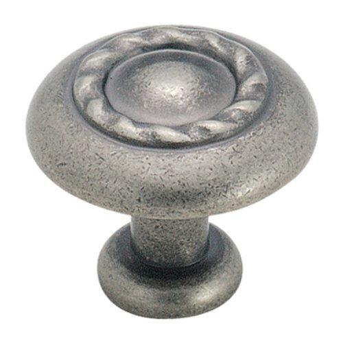 Amerock Inspirations 1-1/4 Inch Diameter Weathered Nickel Cabinet Knob BP1585WN