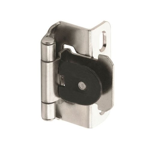 "Amerock Single Demountable 1/2"" Overlay Hinge Nickel-Pair CM871914"