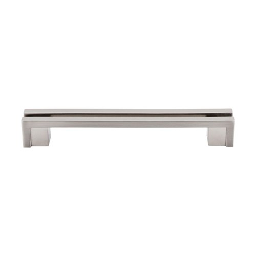 Top Knobs Sanctuary 5 Inch Center to Center Brushed Satin Nickel Cabinet Pull TK56BSN