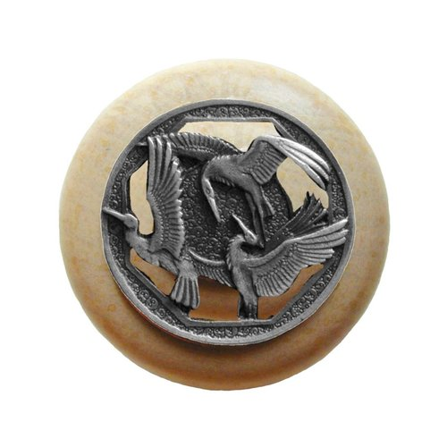 Notting Hill Arts & Crafts 1-1/2 Inch Diameter Antique Pewter Cabinet Knob NHW-737N-AP