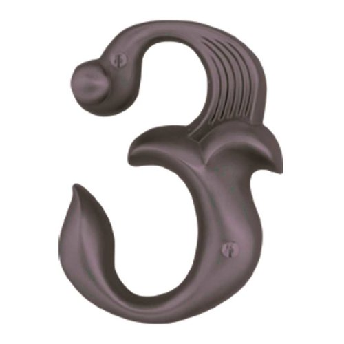 Atlas Homewares Alhambra House Number Three Aged Bronze AN3-O