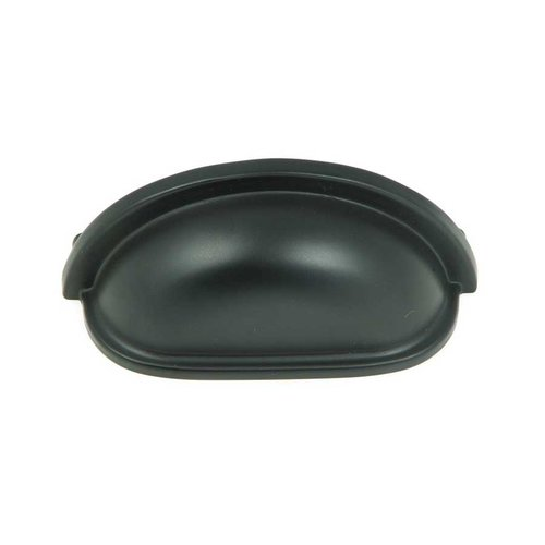 Stone Mill Hardware Princeton 3 Inch Center to Center Matte Black Cabinet Cup Pull CP1499-MB