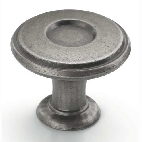 Amerock Porter 1-1/4 Inch Diameter Weathered Nickel Cabinet Knob BP27026WN