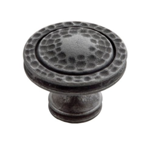 Hickory Hardware Mountain Lodge 1-3/8 Inch Diameter Black Iron Cabinet Knob P3061-BI