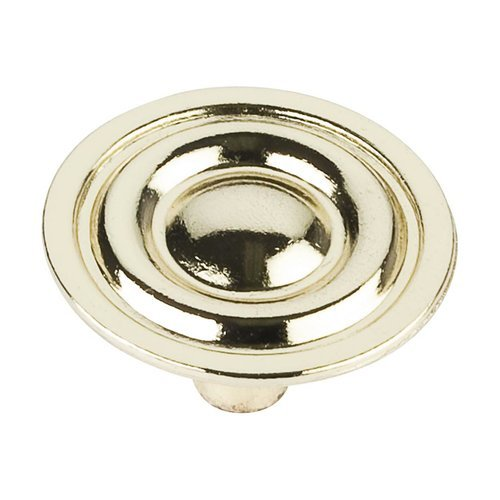 Elements by Hardware Resources Palisade 1-5/16 Inch Diameter Polished Brass Cabinet Knob 875-PB