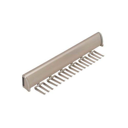 "Hafele Elite Tie Rack Matte Nickel 11-7/8"" L - 15 Hook 807.67.601"