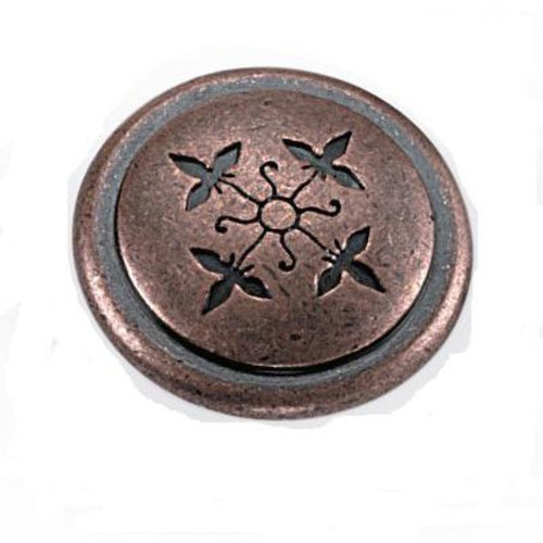 Laurey Hardware Cimarron 1-1/4 Inch Diameter Antique Copper Cabinet Knob 53007