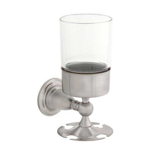 Victorian Toothbrush and Tumbler Holder Stainless Steel <small>(#75056-SS)</small>