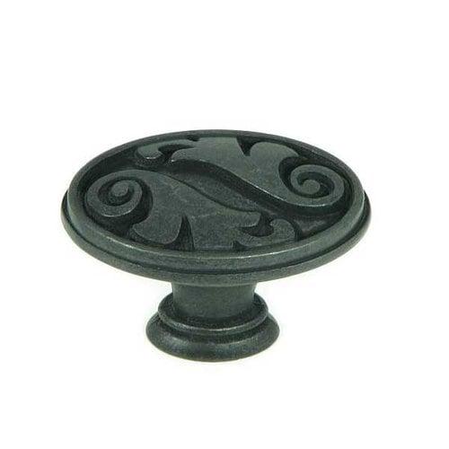 Stone Mill Hardware Meadow Brook 1-1/2 Inch Diameter Antique Black Cabinet Knob CP81097-BA