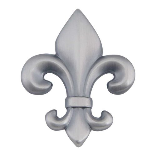 Fleur D'Lis 2-1/4 Inch Diameter Pewter Cabinet Knob <small>(#4006-P)</small>