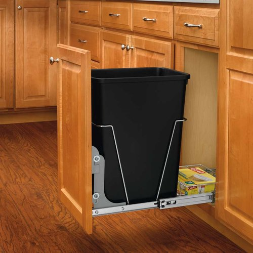Rev-A-Shelf Single Trash Pullout 35 Quart-Black RV-12KD-18C S