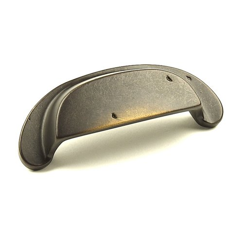 Century Hardware Whistler 3-1/2 Inch Center to Center Aged Bronze Cabinet Cup Pull 19545-AZ
