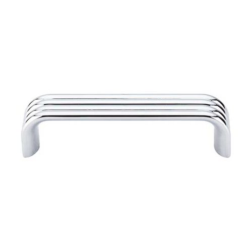 Top Knobs Sanctuary II 3-3/4 Inch Center to Center Polished Chrome Cabinet Pull TK262PC