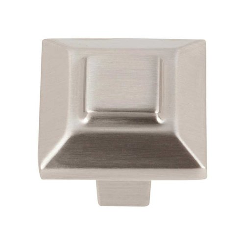 Trocadero 1 Inch Diameter Brushed Nickel Cabinet Knob <small>(#283-BRN)</small>