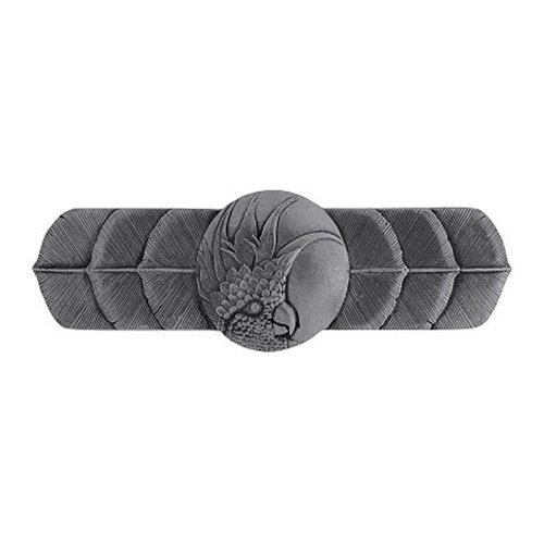 Notting Hill Tropical 3 Inch Center to Center Brilliant Pewter Cabinet Pull NHP-326-BP-L