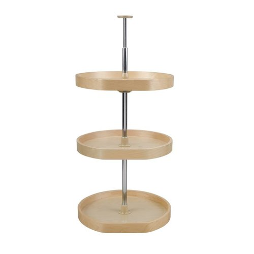 D Shape Three Shelf Set 20 inch Diameter - Wood <small>(#LD-4BW-263-2036-1)</small>