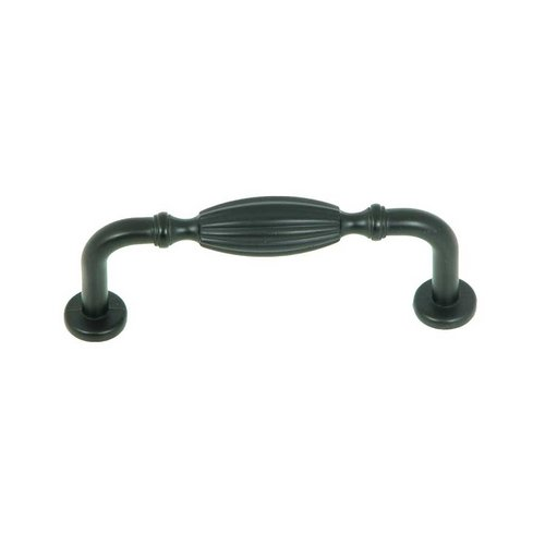Stone Mill Hardware Vienna 3 Inch Center to Center Matte Black Cabinet Pull CP5210-MB