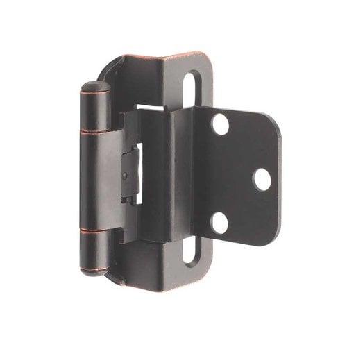 Amerock Partial Wrap 3/8 inch Inset Hinge Oil Rubbed Bronze - Per Pair BPR7565ORB