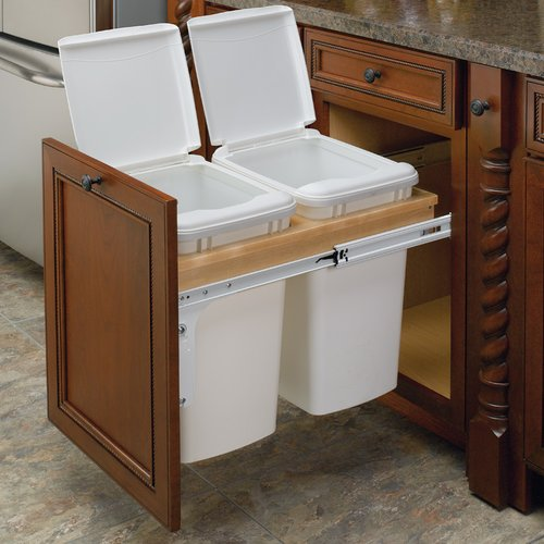 Rev-A-Shelf Double Trash Pullout 35 Quart -Wood 4WCTM-18DM2