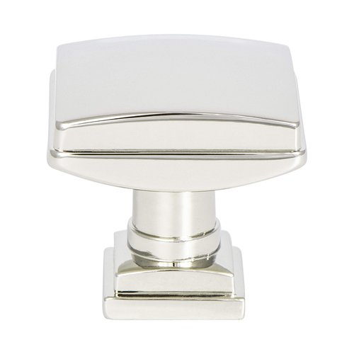 "Berenson Tailored Traditional Knob 1-1/4"" Dia Polished Nickel 1274-1014-P"