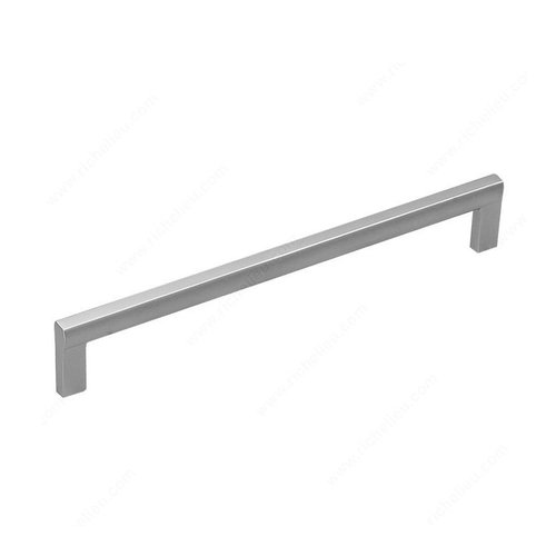 Sleek 8-13/16 Inch Center to Center Matte Chrome Cabinet Pull <small>(#21702224174)</small>