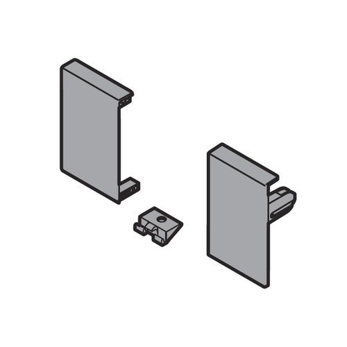 Blum Tandembox Interior Nylon Front Fixing Bracket Set Gray ZIF.71M0