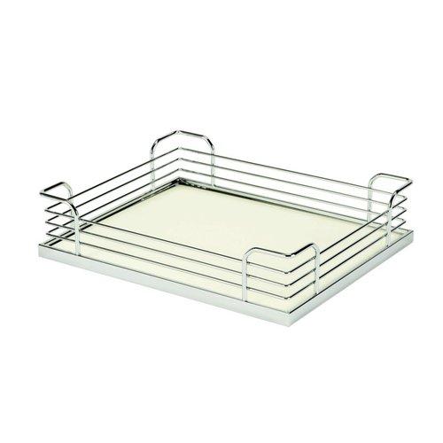 Kessebohmer Arena Plus Chefs Pantry Back Tray Set 17-7/8 inch W Chrome/White 546.64.272
