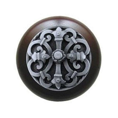 Notting Hill Olde World 1-1/2 Inch Diameter Antique Pewter Cabinet Knob NHW-776W-AP