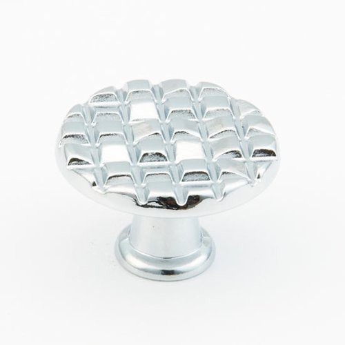 Schaub and Company Italian Designs-Mosaic 1-1/8 Inch Diameter Polished Chrome Cabinet Knob 2370-26