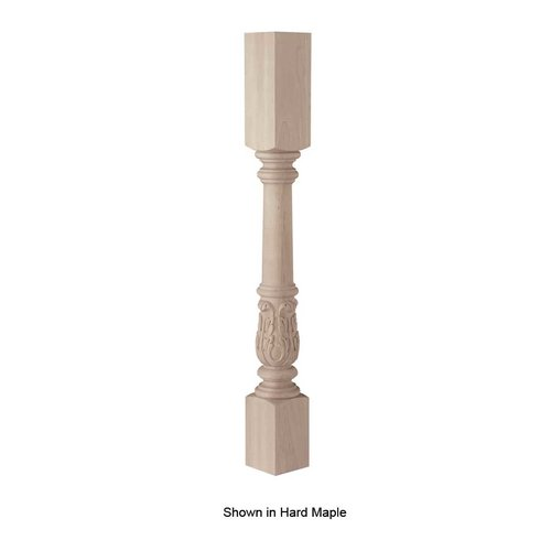 Brown Wood Acanthus Island Column Unfinished Cherry 01560222CH1